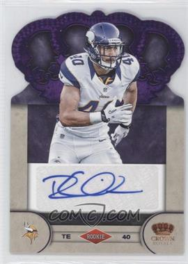 2012 Crown Royale Rookie Signatures Purple #78 - Rhett Ellison /25