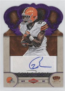 2012 Crown Royale Rookie Signatures Purple #99 - Travis Benjamin /25
