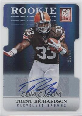 2012 Elite Aspirations Die-Cut Signatures [Autographed] #106 - Trent Richardson /49