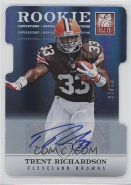 2012 Elite Aspirations Die-Cut Signatures [Autographed] #106 - Trent Richardson /49
