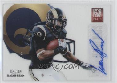 2012 Elite Rookie Hard Hats Signatures [Autographed] #19 - Isaiah Pead /99