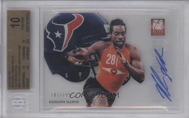 2012 Elite Rookie Hard Hats Signatures [Autographed] #45 - Keshawn Martin /199 [BGS 10]