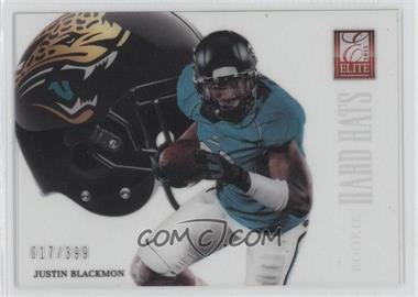 2012 Elite Rookie Hard Hats #4 - Justin Blackmon /399