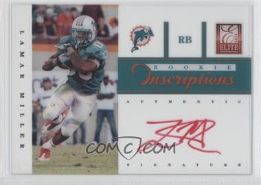 2012 Elite Rookie Inscriptions Red Ink [Autographed] #22 - Lamar Miller