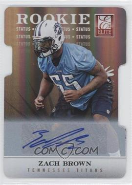 2012 Elite Status Die-Cut Signatures [Autographed] #129 - Zach Brown /24