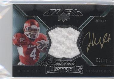 2012 Exquisite Collection Upper Deck Black Rookie Lustrous Jersey Signatures #BRL-28 - Jarius Wright /99