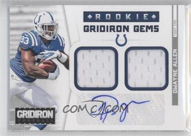 2012 Gridiron Rookie Gridiron Gems Combo Materials Signatures [Autographed] #303 - Dwayne Allen /49