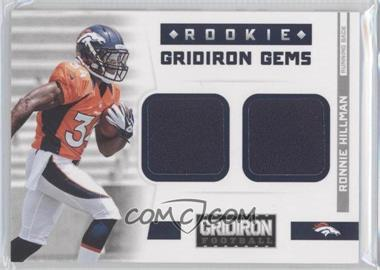 2012 Gridiron Rookie Gridiron Gems Combo Materials #310 - Ronnie Hillman /249