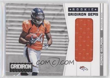 2012 Gridiron Rookie Gridiron Gems Materials #310 - Ronnie Hillman /199