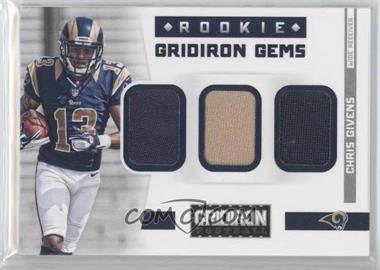2012 Gridiron Rookie Gridiron Kings Trios Materials [Memorabilia] #12 - Chris Givens /199