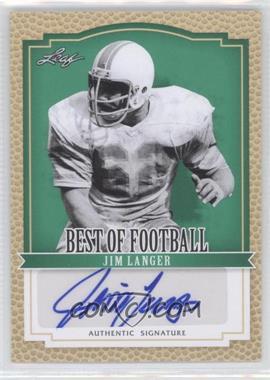 2012 Leaf Best of Football [???] #BA-JL2 - Jim Langer