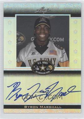 2012 Leaf Metal Draft Army All-American Bowl #ATA-BM1 - Byron Marshall /50