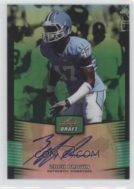 2012 Leaf Metal Draft Green #ZB1 - Zach Brown /10