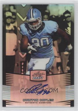 2012 Leaf Metal Draft Silver #QC1 - Quinton Coples /99