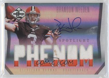 2012 Limited - [Base] - Spotlight Silver #206 - Brandon Weeden /49
