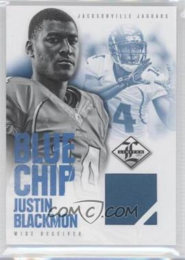 2012 Limited Blue Chip Materials Jerseys #5 - Justin Blackmon /99