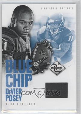 2012 Limited Blue Chip Materials Shoes #33 - DeVier Posey /49