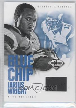 2012 Limited Blue Chip Materials Shoes #34 - Jarius Wright /49