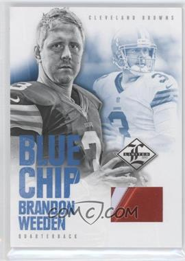 2012 Limited Blue Chip Materials Shoes #6 - Brandon Weeden /49