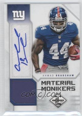 2012 Limited Material Monikers #3 - Ahmad Bradshaw /25