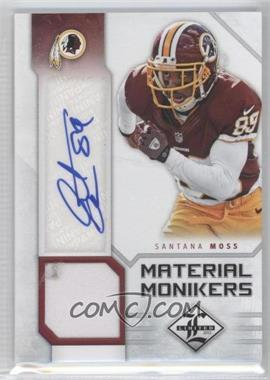 2012 Limited Material Monikers #46 - Santana Moss /25