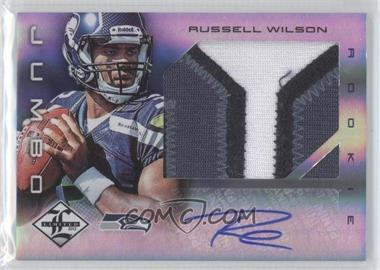 2012 Limited Rookie Jumbo Materials Signatures Prime [Autographed] #25 - Russell Wilson /25
