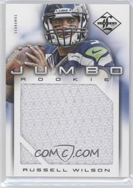 2012 Limited Rookie Jumbo Materials #25 - Russell Wilson /99