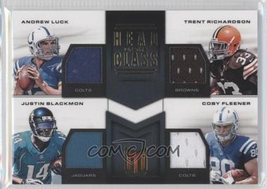 2012 Momentum - Head of the Class Quad Materials #5 - Trent Richardson, Andrew Luck, Coby Fleener, Justin Blackmon /49
