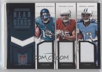 Justin Blackmon, Michael Floyd, Kendall Wright /49