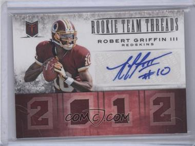 2012 Momentum Rookie Team Threads Materials Quad Signatures [Autographed] #2 - Robert Griffin III /10