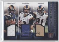 Kurt Warner, Marshall Faulk, Torry Holt /99