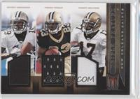 Pierre Thomas, Robert Meachem, Devery Henderson /99