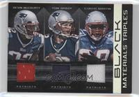 Curtis Martin, Devin McCourty, Tom Brady /50