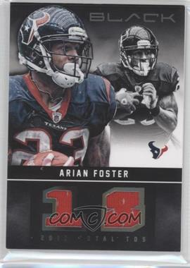 2012 Panini Black Stat Line Materials #27 - Arian Foster /99