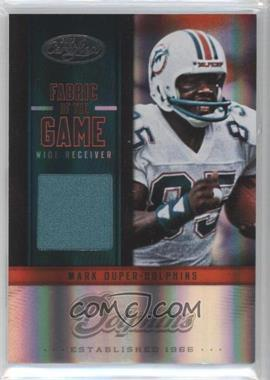 2012 Panini Certified - Fabric of the Game Jerseys #42 - Mark Duper /199