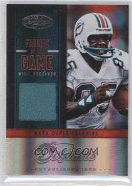 2012 Panini Certified Fabric of the Game Jerseys #42 - Mark Duper /199