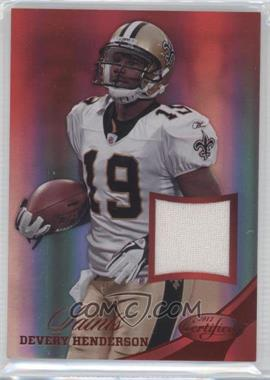 2012 Panini Certified Materials Mirror Red #14 - Devery Henderson /199