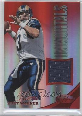 2012 Panini Certified Materials Mirror Red #204 - Kurt Warner /199