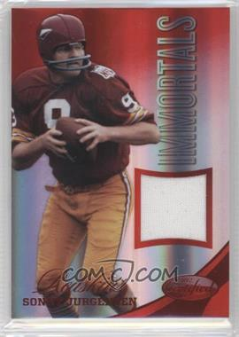 2012 Panini Certified Materials Mirror Red #227 - Sonny Jurgensen /75