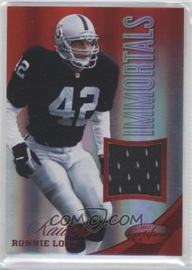 2012 Panini Certified Materials Mirror Red #231 - Ronnie Lott /199