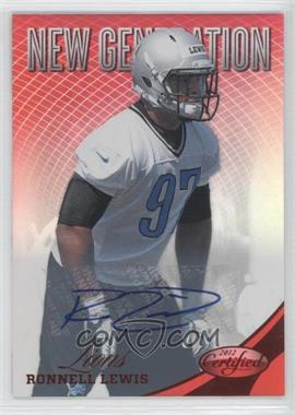 2012 Panini Certified Mirror Red Signatures [Autographed] #301 - Ronnell Lewis /350