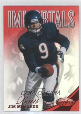 2012 Panini Certified Mirror Red #186 - Jim McMahon /250