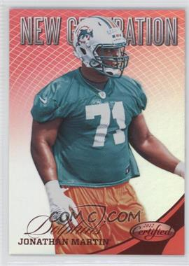 2012 Panini Certified Mirror Red #277 - Jonathan Martin /250