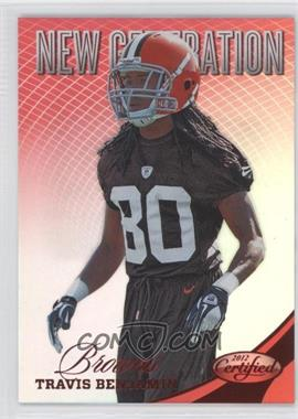 2012 Panini Certified Mirror Red #309 - Travis Benjamin /250