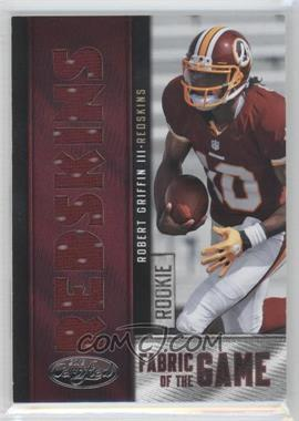 2012 Panini Certified Rookie Fabric of the Game Jerseys Die-Cut Team Name #2 - Robert Griffin III /49