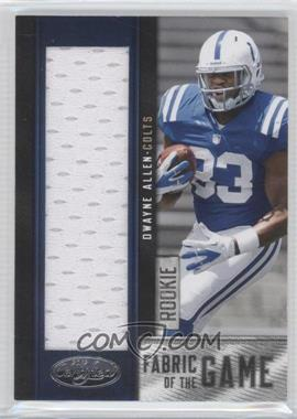 2012 Panini Certified Rookie Fabric of the Game Jerseys #18 - Dwayne Allen /199