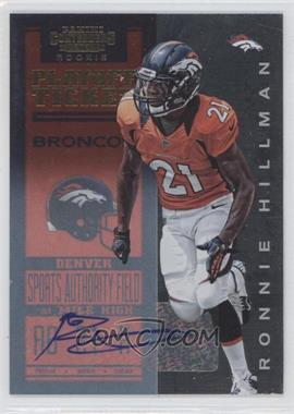 2012 Panini Contenders - [Base] - Playoff Ticket #224 - Ronnie Hillman /99