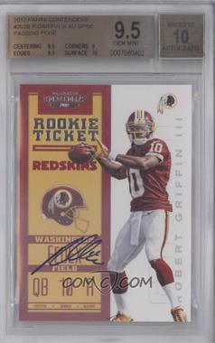 2012 Panini Contenders - [Base] - Rookie Ticket Variation #202 - Robert Griffin III /50 [BGS 9.5]