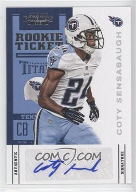 2012 Panini Contenders - [Base] #119 - Rookie Ticket - Coty Sensabaugh