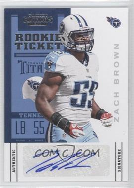 2012 Panini Contenders - [Base] #199 - Rookie Ticket - Zach Brown